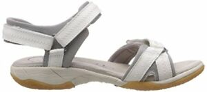 ladies-CLARKS-ISNA-PEBBLE-LEATHER-WALKING-SPORTS-SANDALS-WHITE-womens-size-3-d