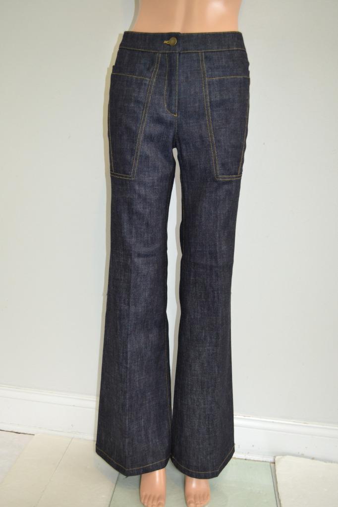 NWT Derek Lam 'Indigo' Denim Flare Jeans Pants, Sz 36,  595