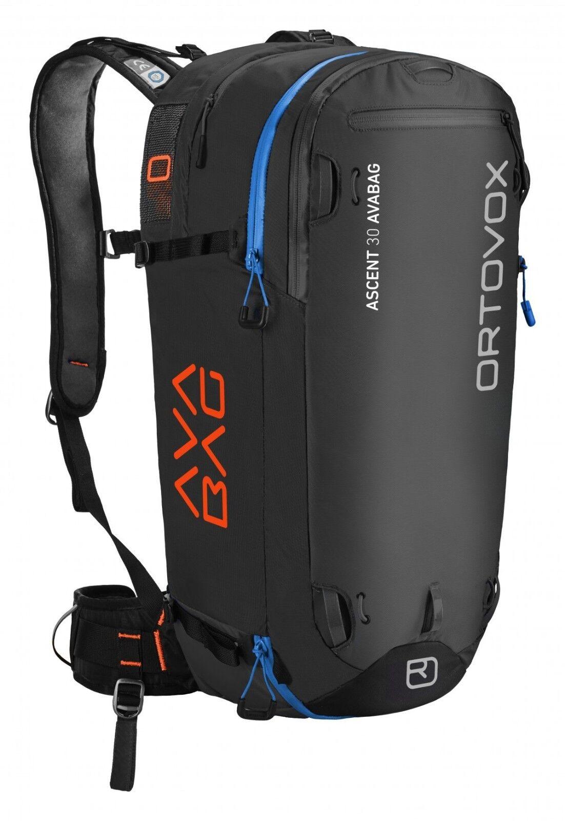 Ortovox Ascent 30 Avalanche de sécurité avabag noir Anthracite Neuf