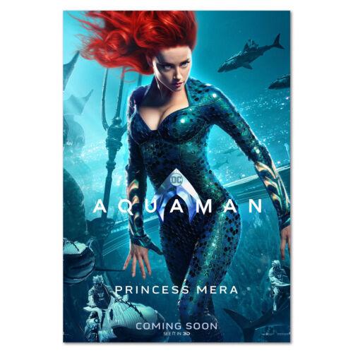 High Quality Prints Princess Mera Aquaman Movie Poster