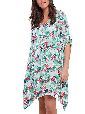 Over Size Kaftan Tunic Dress Beach Cover UP FITS 20,22,24,26,28