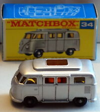 DTE LESNEY MATCHBOX REGULAR WHEELS 34-4 VW VOLKSWAGEN CAMPER W/LOW ROOF F BOX