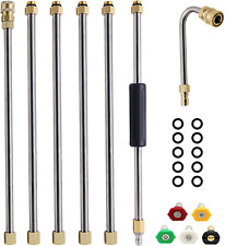 Twinkle Star Pressure Washer Extension Wand Set 8 Ft Replacement Lance With 5 N