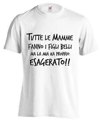 T-SHIRT TUTTE LE MAMME FANNO... maglietta 100% cotone bianco maglia divertente