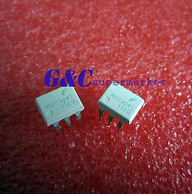 10PCS MOC3041 DIP-6 FSC OPTOCOUPLERS NEW GOOD QUALITY D25