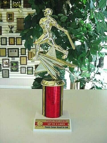 """BASEBALL SOFTBALL TROPHY HIGH QUALITY YOUTH AWARD FREE LETTERING 9 1//2/"""" TALL *"""