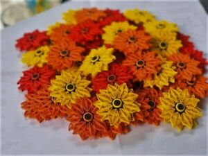 Lot 25 Paper Quilling Flowers Handmade Kids Diy Ideas Party Wall Decorations Ebay