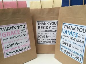 Personalised Wedding Thank You Gift Bags : Home & Garden > Wedding Supplies > Wedding Favors