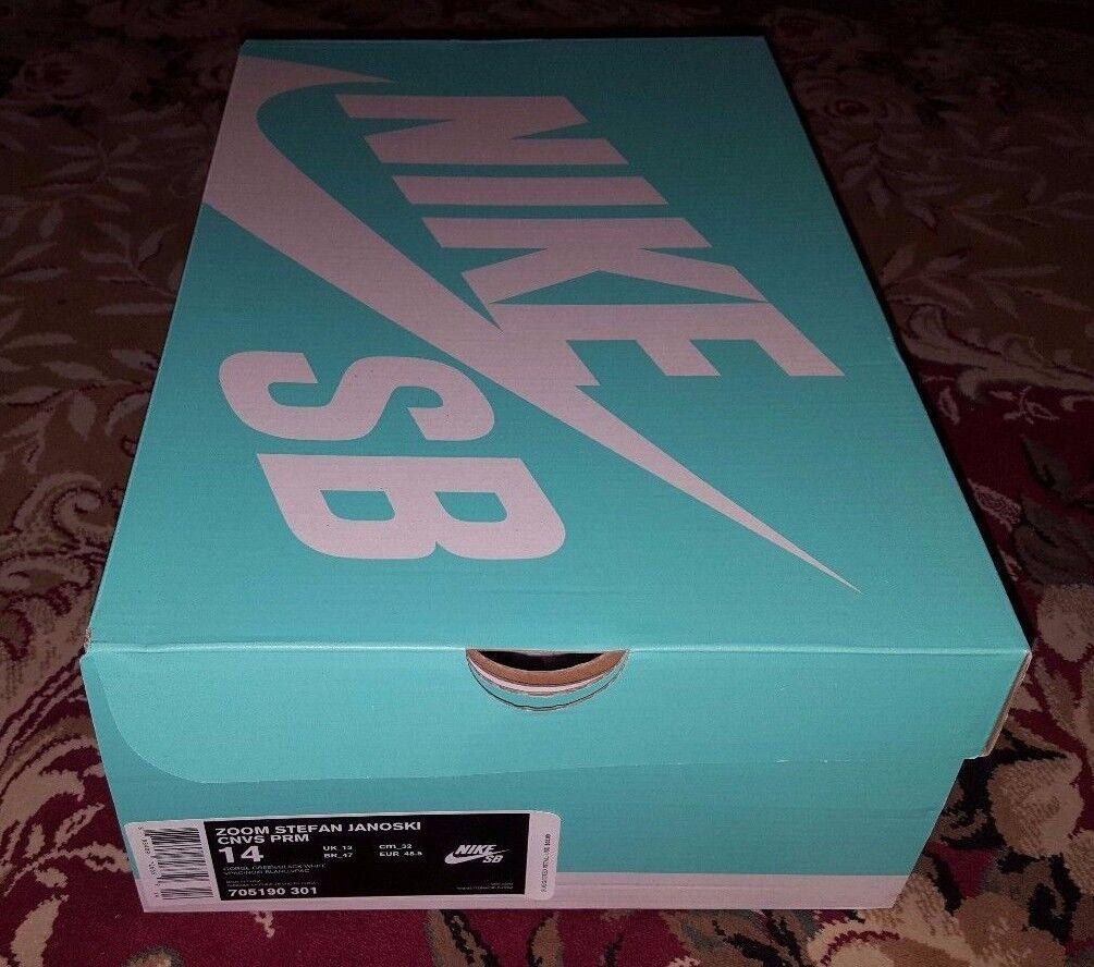 Nike SB zoom Stefan Janoski lona Premium de helechos 705190-301 lona Janoski hombres talla 14 ec40c0