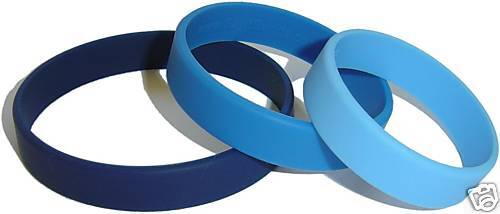 100% Silicone BandsCUSTOM SIZE,COLOR Radsport 500 WRISTBANDS