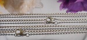 Gliederkette-Ankerkette-Halskette-mit-Karabiner-45-cm-lang-antikgold-bronce