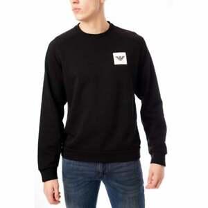 Emporio-Armani-Homme-Badge-Logo-Crew-Sweat-shirt-noir