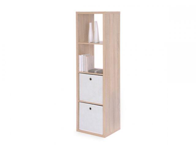 Bücherregal offenes Regal 4er Würfelregal Büroregal Raumteiler MAXI Eiche Dekor