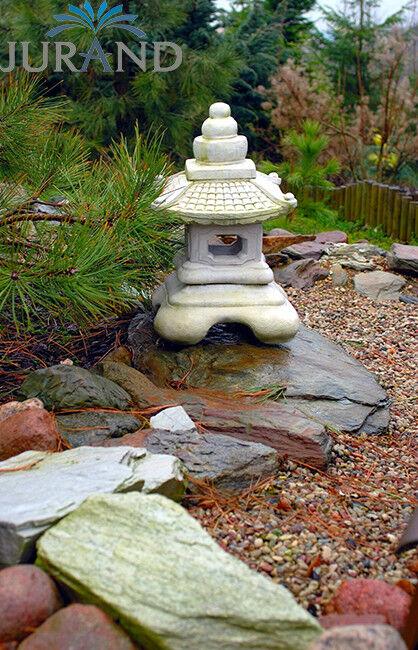Laterne Gartenlampen Steinlaterne Steinlampe Gartenlicht Steinguss Steinguss Steinguss Bonsai Garten 372788