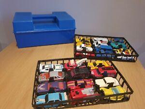 Vintage Matchbox Carry Case Including 7 Matchbox 7 corgi 2 HW 8 Car Other Bundle