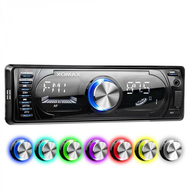 AUTORADIO CON BLUETOOTH VIVAVOCE USB SD AUX MP3 4x60W RDS SINGOLO 1DIN SENZA CD