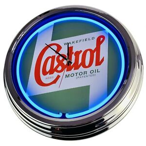 """N-0320 Wall Clock """" Castrol """" Decor Dining Room Neon Kitchen Living Watch"""