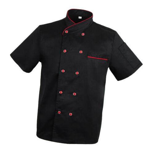 Women/'s Men's Chef Jacket Coat Hotel Kitchen Uniforms Short Sleeve Chef Wear