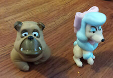 Lot 2 Disney's Oliver & Company Soft Rubber or Plastic Figures Dogs 1988