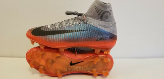 blue cr7 soccer cleats mercurial superfly