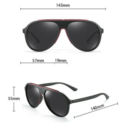 KEITHION TR-90 Polarized Sunglasses Mens Oversized Glasses Round Driving Eyewear