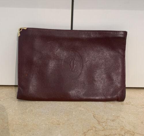 Bordeaux red purse womens wallet Mid century bag vintage clutch
