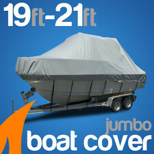 Heavy-Duty, Marine Grade 19ft-21ft / 5.8m-6.4m Trailerable Jumbo Boat Cover