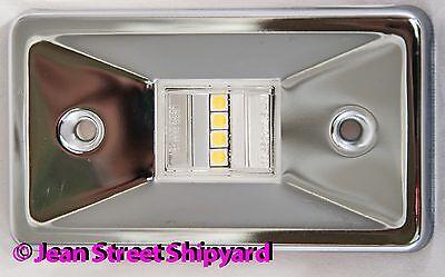 Rectangular Marine Stainless LED Transom Mount Stern Anchor Navigation Light