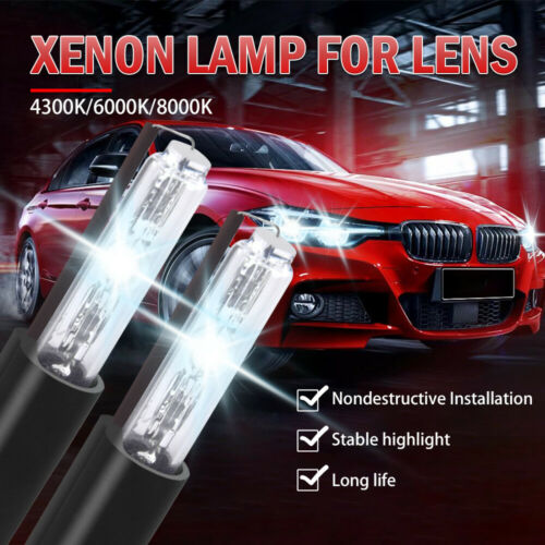 Pair Xenon Bulbs 35W 6000K For Bi Xenon HID Projector Lens Retrofit Headlight