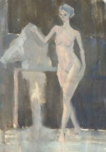 Russischer-Realist-Expressionist-Ol-Leinwand-034-Akt-034-40x28-cm