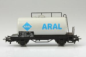 H0-Marklin-4440-Gris-Aral-Wagon-Citernes-Boue-Rayures-Emballage-D-039-Origine-M