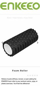 Foam-Roller-For-Deep-Self-Massage-13cm-X-6cm-Black-NIB