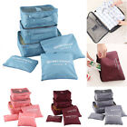 6pcs/Set Cube Waterproof Clothes Storage Bag Packing Travel Luggage Organizer