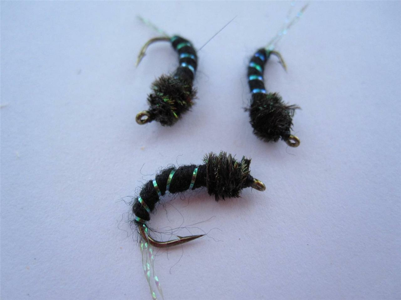 COLOR /& SIZES AVAILABLE NYMPHS TROUT DRY FLIES 1 DZ 14-5 BEAD HEAD BRASSIE/'S