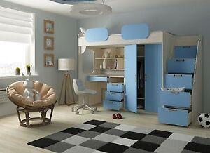 Etagenbett Für Kinderzimmer : Kinder etagenbett mit sitzbänken buche hochbett kinderbett