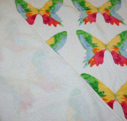 Color White and Multi-Color Butterflies C Home Collection Bath Towel 1 pc