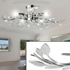 Details zu Decken Leuchte Wohnzimmer Esszimmer Diele Lampe Licht Acryl  Blätter Design Licht