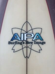 Vintage-1970-s-Aipa-Single-Wing-Stinger-Swallow-Tail-Surfboard-Hawaii