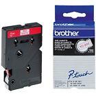Brother Schriftbandkassette/tc202 12mm weiß rot