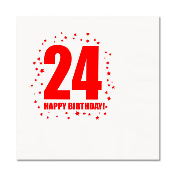happy 24th birthday age 24 party supplies luncheon lunch dinner