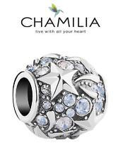 Genuine CHAMILIA 925 silver & Swarovski SKY TREASURE charm bead, stars celestial