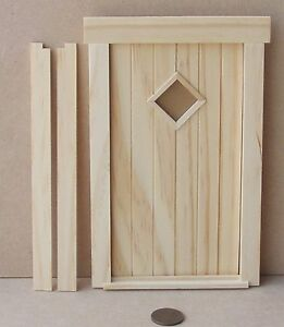 1-12-Scale-Opening-External-Wooden-April-Door-amp-Frame-Dolls-House-Fairy-251