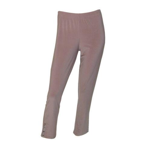 Maltex24 Stylish Röhren Stretch Legging mit Nietenbesatz taupe