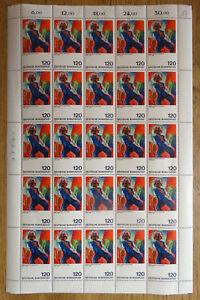 Bund-823-postfrisch-Bogen-kompl-mit-Plattenfehler-PF-823-I-III-Michel-120-00