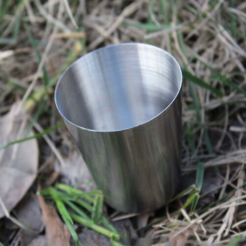 10Pcs Stainless Steel Wine Drinking Shot Glasses Barware Cup Outdoor Supply