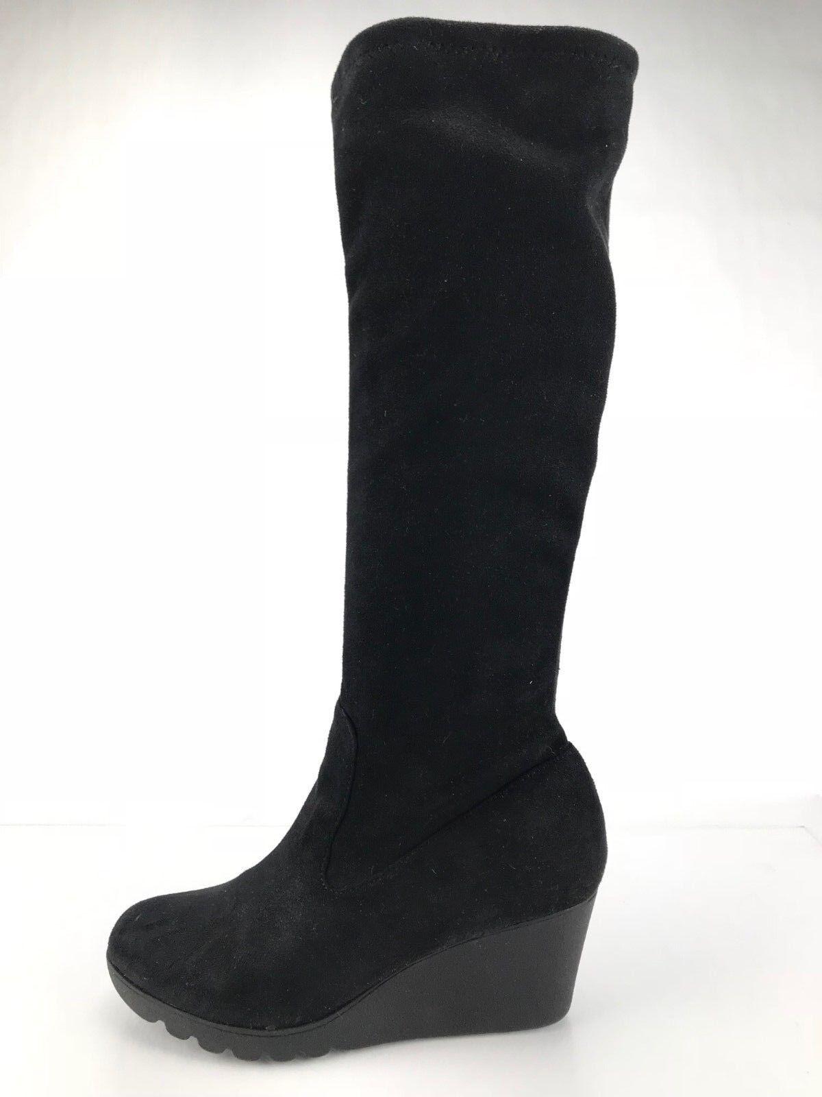 clásico atemporal Donald J Pliner Myles 2 la rodilla rodilla rodilla botas altas con tacón de cuña de mujer de moda negro Sz 6M  nuevo listado