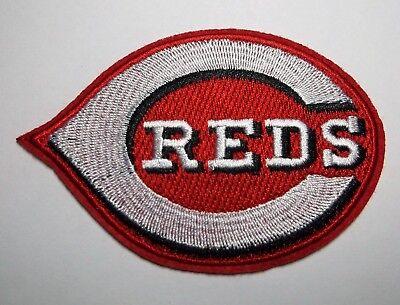 "Cincinnati Reds ~ Bestickter Patch ~ 9.5cm X 2 5/8 ""~ Iron Aufnäher ~ Mlb ~ Einfach Zu Schmieren Weitere Ballsportarten"