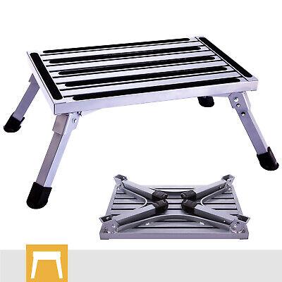 Folding Rv Step Stool Aluminum Ladder Anti Skid Platform