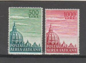 s38504 VATICANO 1958 MNH** Cupoloni II PA 2v