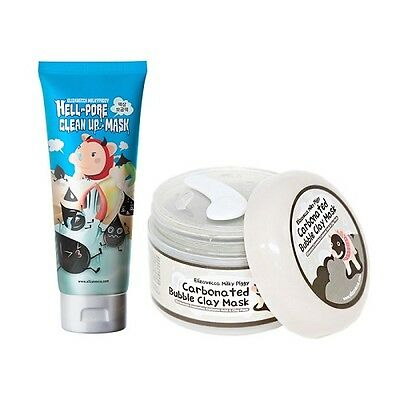 [Elizavecca] Hell-Pore Clean Up nose Mask + Carbonated Bubble Clay Mask / Korean
